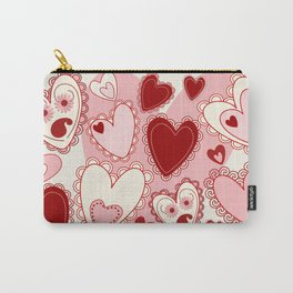 Valentine Romantic Sweet Hearts  Carry-All Pouch
