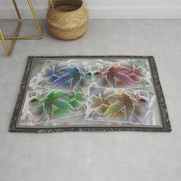 Frosted Maple Leaves Pop Art Rug