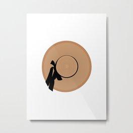 Floppy Hat Metal Print
