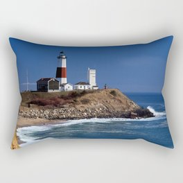 Crispy Morning at Montauk Point Lighthouse Long Island New York Rectangular Pillow