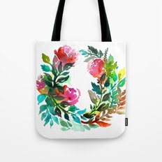 Rose Wreath Tote Bag