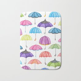 Rainy Day Umbrellas Bath Mat