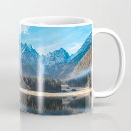 autumn sunrise at the alpine lake Coffee Mug