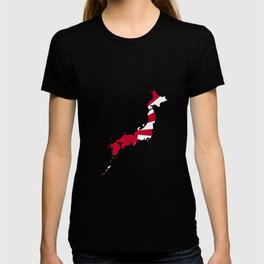 Japanese Map and Flag T-shirt