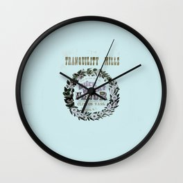 flour power: tranquility mills Wall Clock