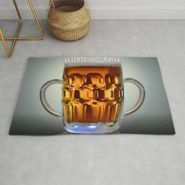 Never Spill Your Beer ! Rug