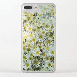 White Daises Clear iPhone Case