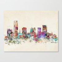 oklahoma Canvas Prints featuring oklahoma city oklahoma by bri.buckley