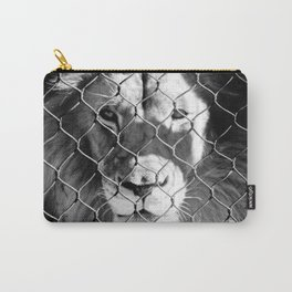 Caged Lion Carry-All Pouch