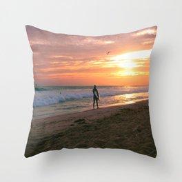 Setting Sun  Throw Pillow