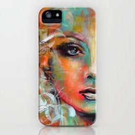 Little Colorgirl Original Painting iPhone Case