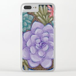 Little Succulent Garden Clear iPhone Case