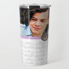 Harry Styles, One Direction, 1D, 1dFanArt, 2017 Calendar, Calendar, 2017 Travel Mug