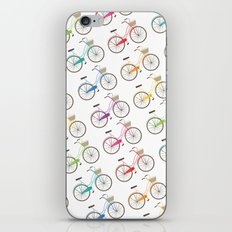 Rainbow Bicycles iPhone & iPod Skin