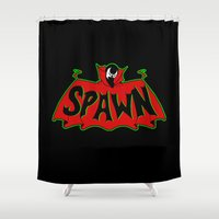 spawn Shower Curtains featuring Hell's monster by Buby87