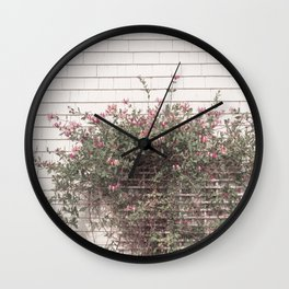 Blooming outside the Green Gables farm house Wall Clock