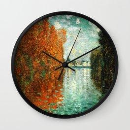 Monet : Autumn Effect at Argenteuil Wall Clock
