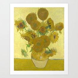 Sunflowers (Vincent Van Gogh series) Art Print