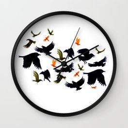 Flurry and Flight Wall Clock