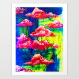 Candy Clouds Art Print