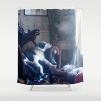 boss Shower Curtains featuring The boss by AstridJN