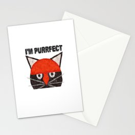 A pussy cat Stationery Cards