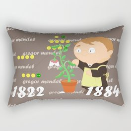 Gregor Mendel Rectangular Pillow