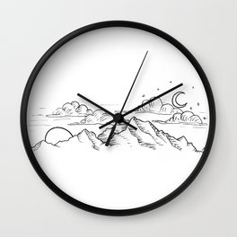 Simultaneous Night and Day Wall Clock