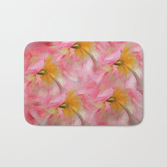 Fancy Painted Tulips Bath Mat