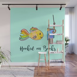Hooked on Books - Mint Wall Mural