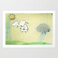 Cloudbullying Art Print