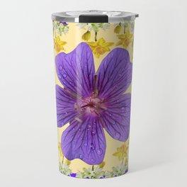 PANTENE ULTRA VIOLET PURPLE FLOWERS ART DESIGN Travel Mug