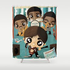 back in time Shower Curtain