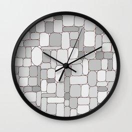 Stone Wall #4 - Grays Wall Clock
