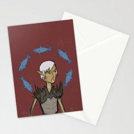 Dragon Age: Fenris hates fish Stationery Cards