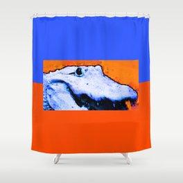 Gator Art - Swampy - Florida - Sharon Cummings Shower Curtain
