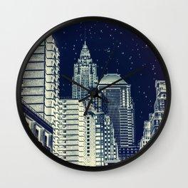 New York. Gotham City. Wall Clock
