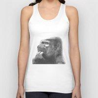 gorilla Tank Tops featuring Gorilla by Nasir Nadzir