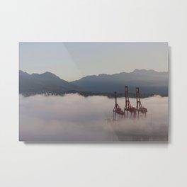 Burrard Inlet Fog Metal Print