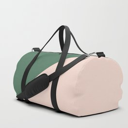 Soft Pink & Army Green - oblique Duffle Bag