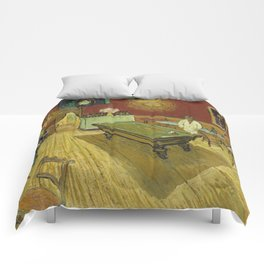 The Night Cafe by Vincent van Gogh Comforters