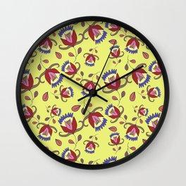 Floral pattern #4 Wall Clock