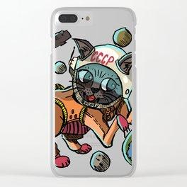 Space Cat Clear iPhone Case