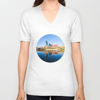nashville V-neck T-shirts featuring Nashville by GF Fine Art Photography