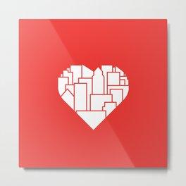 Heart of the City Redux Metal Print