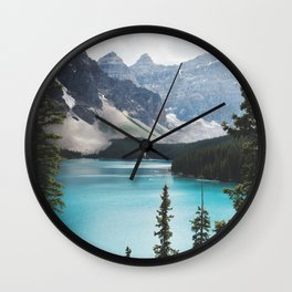 •lake moraine • Wall Clock