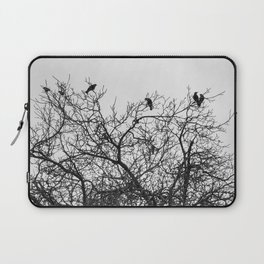 A murder of crows sitting in a tree Laptop Sleeve