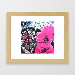 Pink Flower   fleur rose Framed Art Print