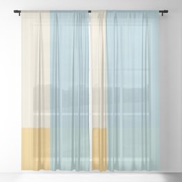 Color Block Lines III Sheer Curtain