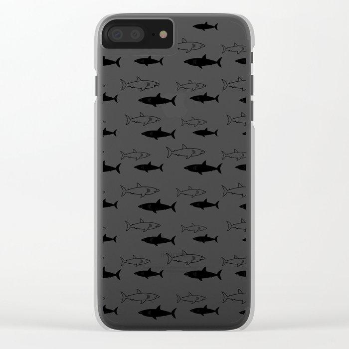 B/W Shark Clear iPhone Case